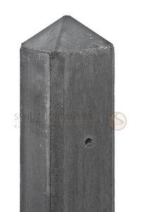 Hoekpaal, Diamantkop voor  2 onderplaten, beton Antraciet, lang  3080.