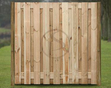 2.0 Groningen met houten tussenpalen vanaf € 29.98 per meter, 19 planken
