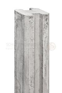 Sleufpaalsysteem Sleuf Hoek Betonpaal extra dik Wit grijs, lang 2800.