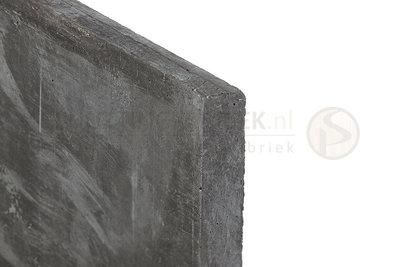 Onderplaat beton Antraciet, voor betonpaal, lang 1840.