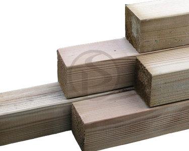Grenen geïmpregneerde tussenpalen voor schutting, 1800 mm lang, 68 x 68 mm.