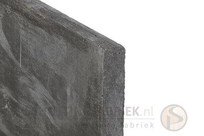 Onderplaat beton Antraciet, uitsluitend voor sleufpaal, lang 1800.