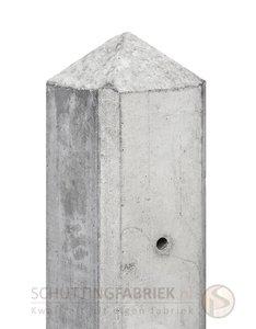 Eindpaal Diamantkop, voor onderplaat, beton Wit Grijs, lang 2780.