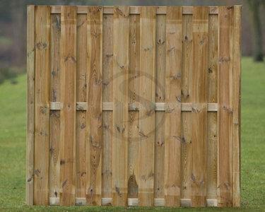 Rechtscherm Kampen plankdikte 16 mm, 17 planken