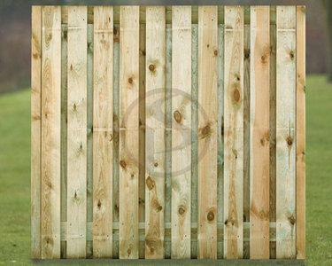Rechtscherm Deventer plankdikte 16 mm, 21 planken